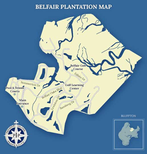 Belfair Plantation Map