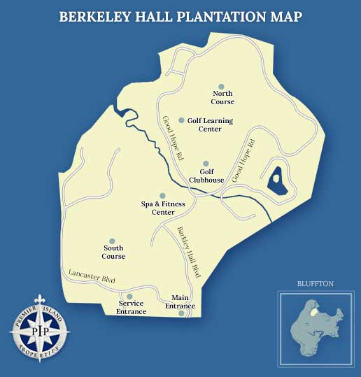 Berkeley Hall Plantation Map
