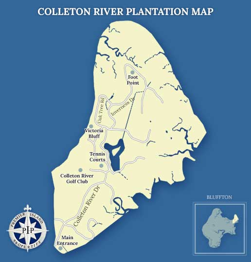 Colleton River Plantation Map