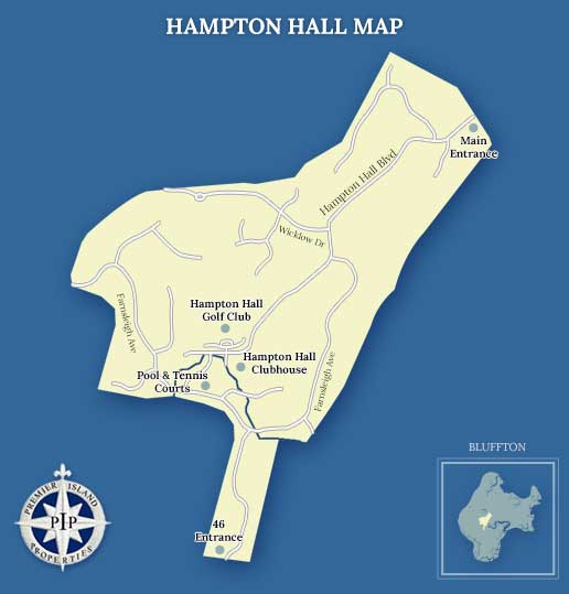 Hampton Hall Map