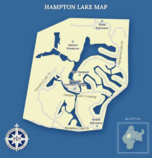 Hampton Lake Map