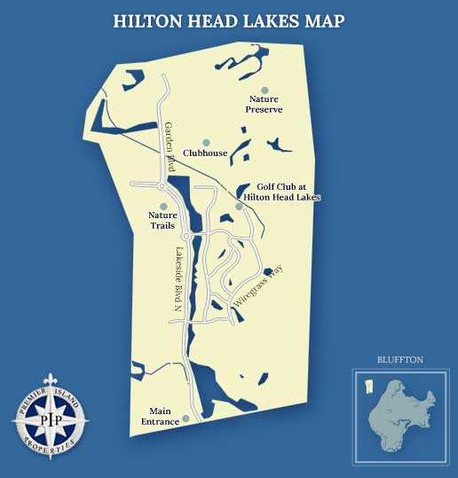 Hilton Head Lakes Map