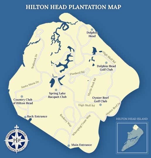 Hilton Head Plantation Map