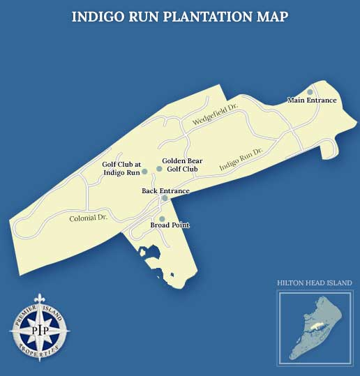 Indigo Run Plantation Map