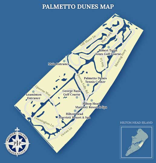 Palmetto Dunes Plantation Map