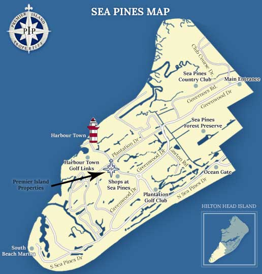 Sea Pines Plantation Map